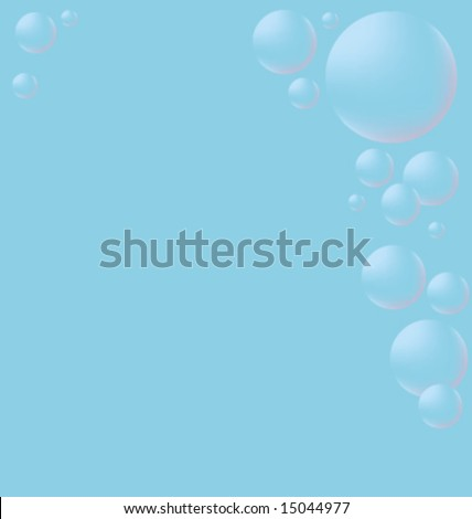 Bubbles on the right. - stock vector