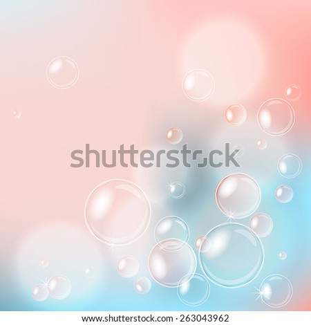 bubbles pink  - stock vector