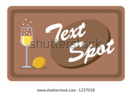 bubbly yellow drink and lemon with text spot