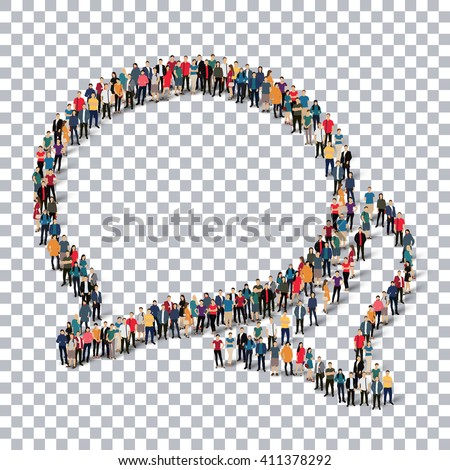 buble chat people  3d - stock vector