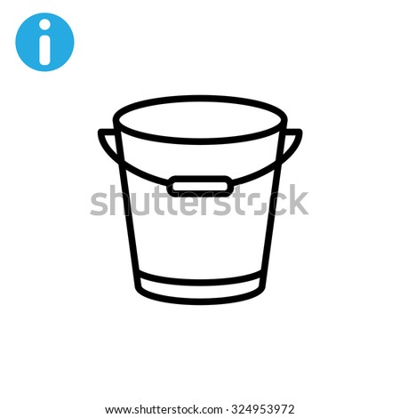 bucket icon - stock vector