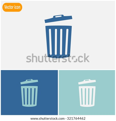 Bucket icon. Universal icon to use in web and mobile UI - stock vector