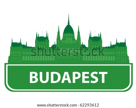 Budapest skyline. Vector illustration - stock vector