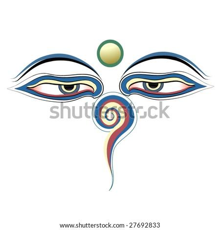buddha eyes vector - stock vector