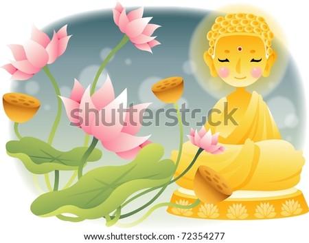 Buddha's Birthday - stock vector