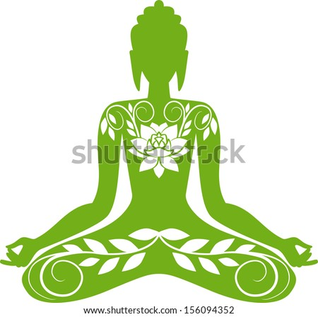 Buddha sitting in a lotus position  sc 1 st  Shutterstock & Silhouette Buddha Lotus Position Stock Vector 150135296 - Shutterstock islam-shia.org