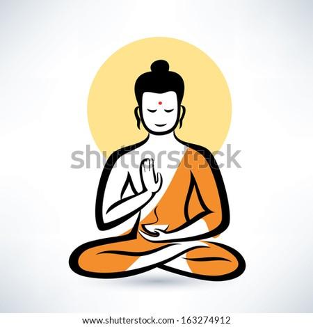 Buddha vector symbol - stock vector