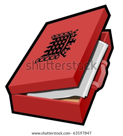 Budget case, ministerial case with documents - stock vector