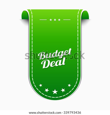 Budget Deal Green Vector Icon Design