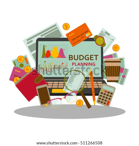 budget planning concept flat style modern stock vector royalty free