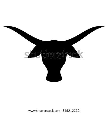buffalo head. bull logo. cow icon. bison symbol. - stock vector
