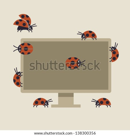 Bug - stock vector
