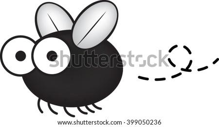 Bug Clip-art - Fly - Vector Illustration - stock vector