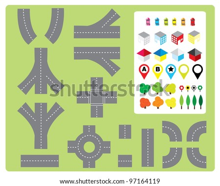 Build Your Own Road - stock vector