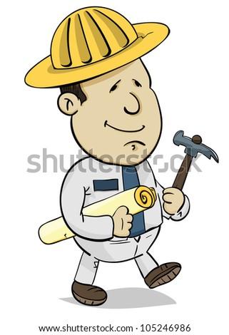 Builder - stock vector
