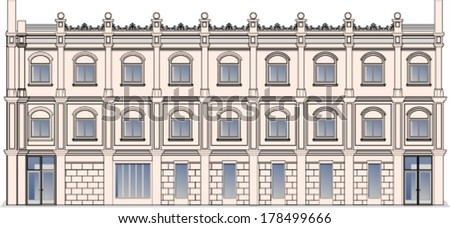 Building - stock vector