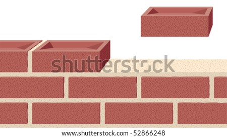 Building a strong foundation - stock vector