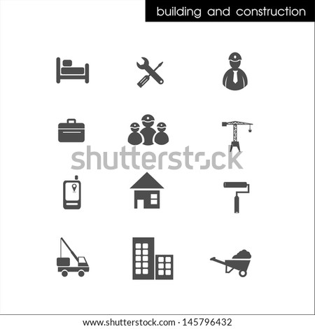 building and construction icon - stock vector