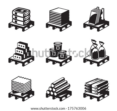 Building and construction materials - vector illustration - stock vector