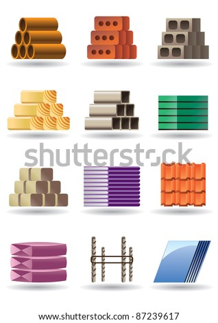 Building and constructions materials - vector illustration - stock vector
