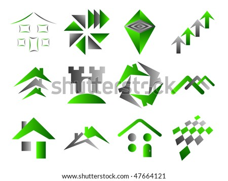 Building and Home Themed Icons Set - stock vector