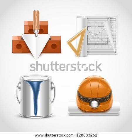 building and repair vector icons xxl - stock vector