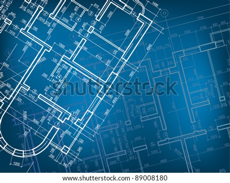 Building background. Plan of the house.	 Blueprint Vector - stock vector
