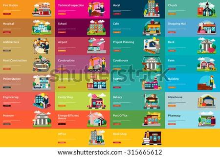 Building & Construction - stock vector