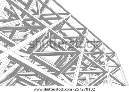 Building 3d structure. Architectural background.