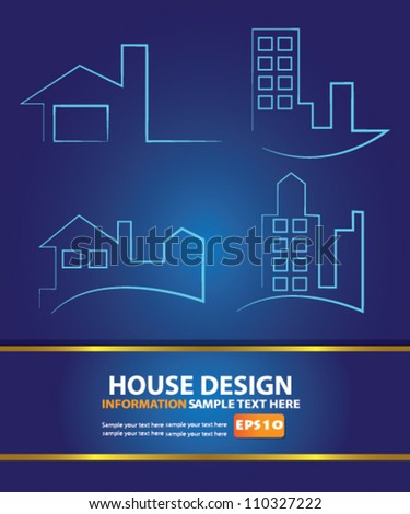 Building design,Vector - stock vector