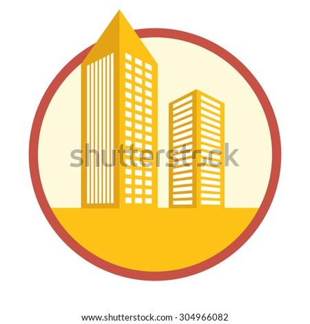 Building digital design, vector illustration 10 eps graphic - stock vector