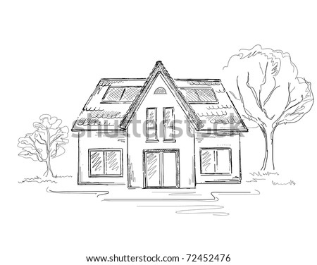 how to draw houses and buildings