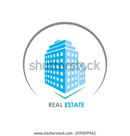 building emblem. real estate. vector eps8 - stock vector