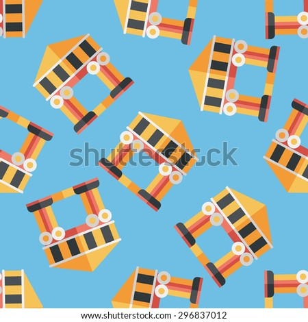Building flat icon,eps10 seamless pattern background
