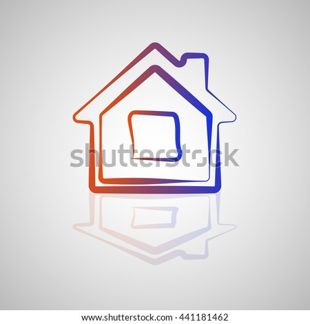 building icon hand draw - stock vector
