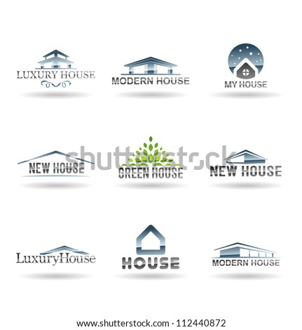 Building icon set. Abstract architecture for your design. Vol 3. - stock vector