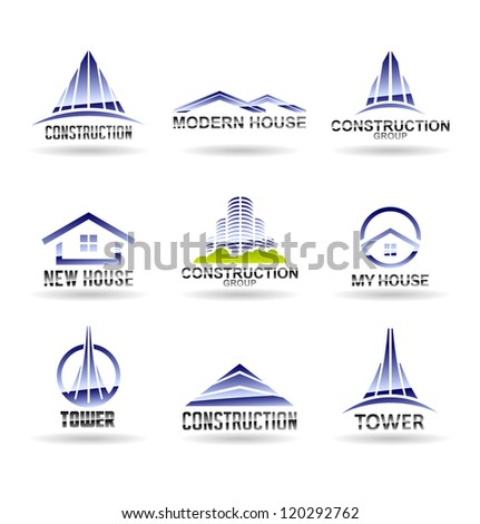 Building icon set. Construction and real estate. Vol 6. - stock vector