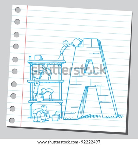 Multicolored alphabet stock vector 53811844 shutterstock for Building letters