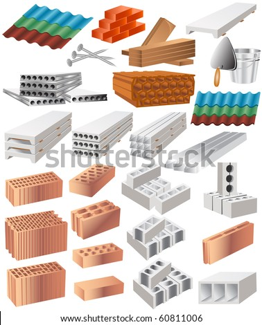 building material - stock vector
