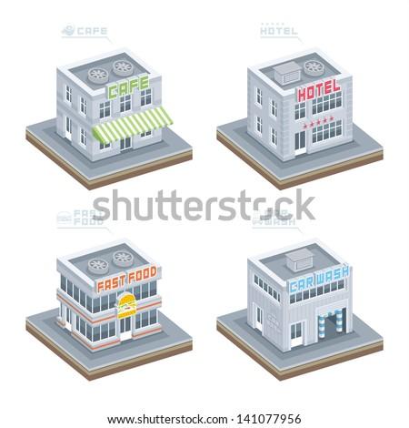 Building set - stock vector