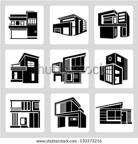 Modern house stock photos images pictures shutterstock for Architecture icon