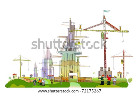 building site vector illustration - stock vector