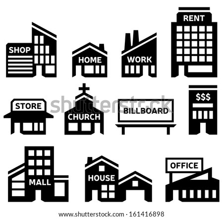 Building Symbols Stock Vector 161416898 Shutterstock