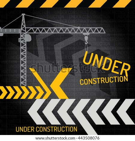 Building under Construction site,Construction infographics,Vector illustration template design