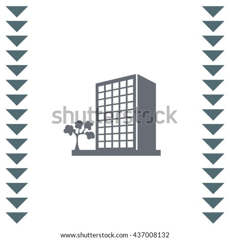Building vector icon. Business office symbol. Urban city structure sign.