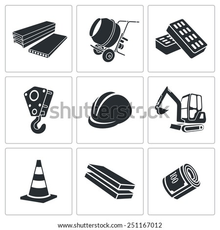 Building Vector Icons Set