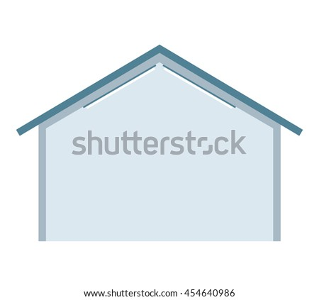 building warehouse storage icon vector isolated graphic - stock vector