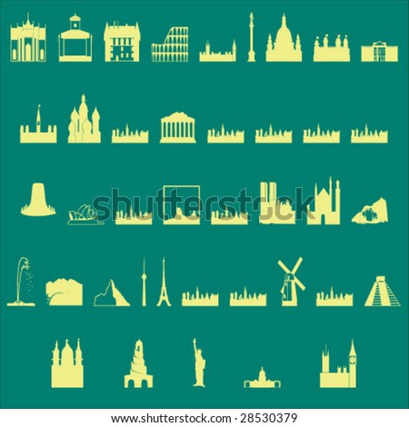 buildings - stock vector