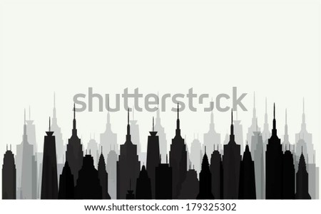 Buildings design - stock vector