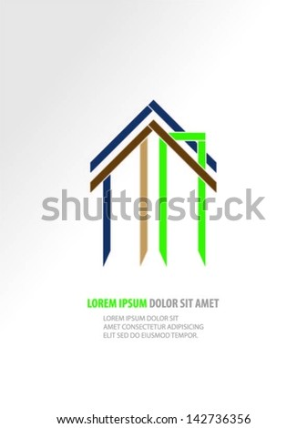Buildings design vector background - stock vector